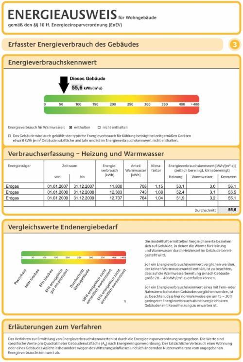 Und Hier Der Tatsächliche Energieverbrauch Des Hauses (Heizung Incl.  Warmwasser) 2007   2009: